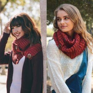 WINE LOVE Knit Infinity scarf